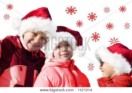 Kids Playing Santa Claus