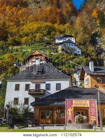Buildings In Hallstatt In The Autumn