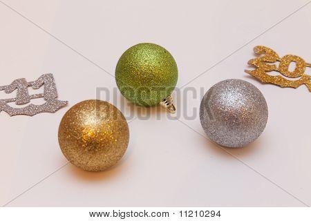 2011 with Christmas balls