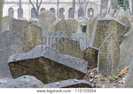 Old Jewish Cemetery And A Church, Prague
