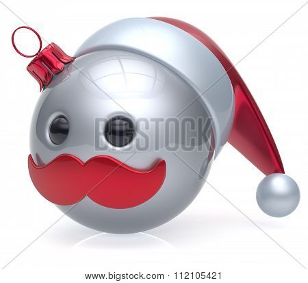 Christmas Ball Emoticon New Year's Eve Bauble Santa White