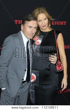 LOS ANGELES - DEC 7:  Tim Roth, Nikki Butler at the