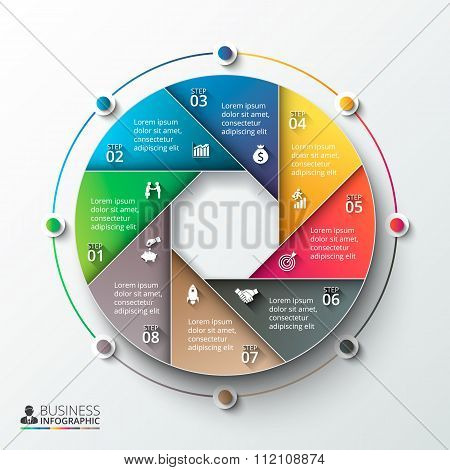 Vector infographic design template.
