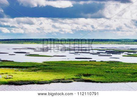 kama reservoir landscape