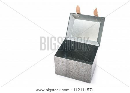 Metal Tool Box On White Background