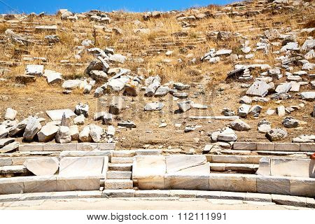 Archeology  In  The Historycal Acropolis And Old Ruin Site