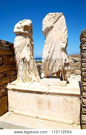 Archeology  In Delos Greece The