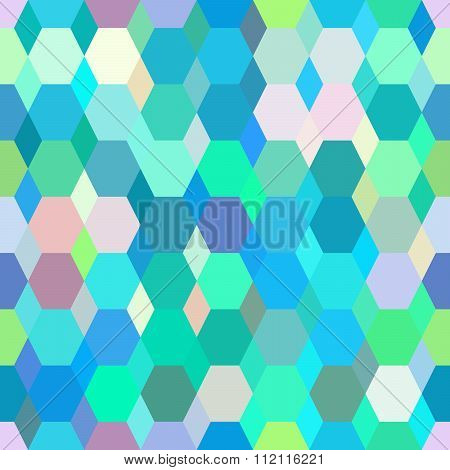 Geometrical ornament colored polygonal pattern