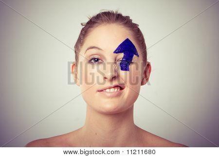 Arrow Painted Over Eye