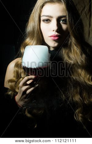 Woman With Elixir Of Beauty