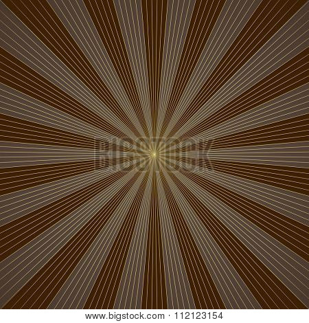 Abstract brown burst vector background.