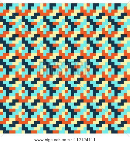 Seamless bright abstract mosaic pattern