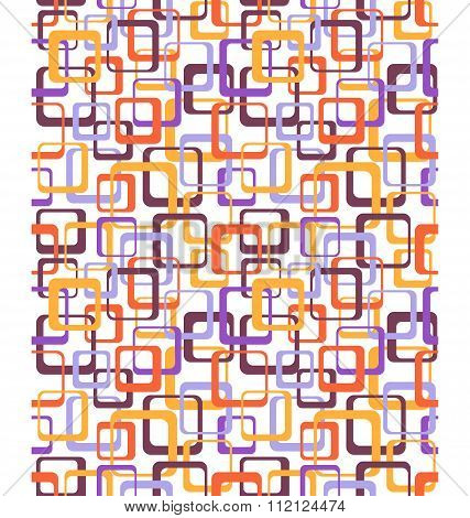 Seamless bright fun abstract pattern with squares isolated on wh