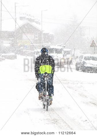 cycling snow