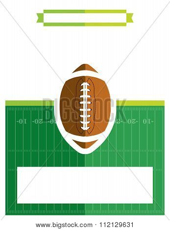 American Football Game Flyer Illustration
