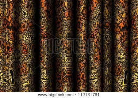 drapery with abstract pattern