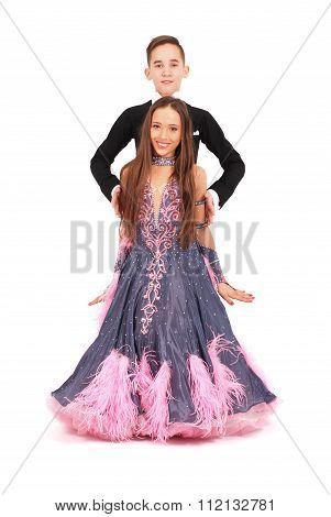 Boy And Girl Dancing Ballroom Dance