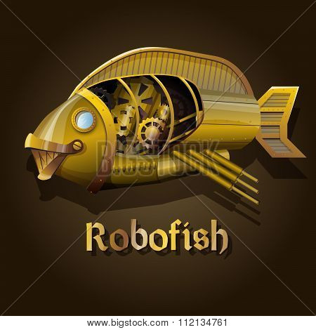 Steampunk robot fish