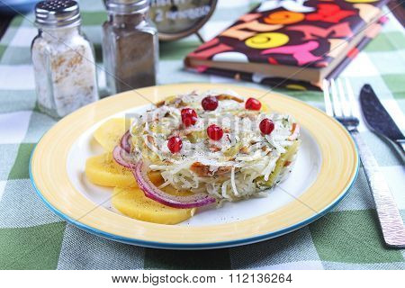 salad of cabbage, coleslaw