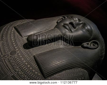 Egyptian Sarcophagus Of Black Stone