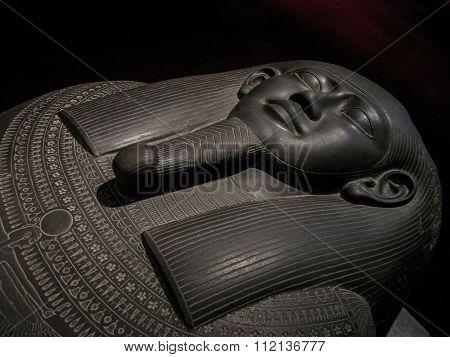 Egyptian Sarcophagus Of Black Stone