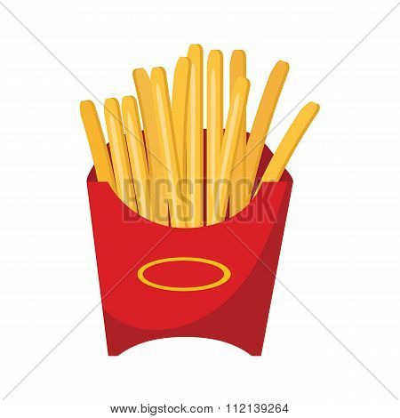 fast food vector icon with fried potatoes