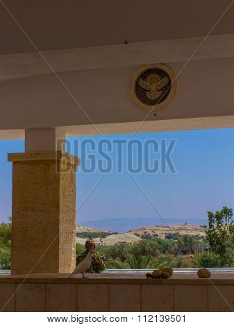 Jericho, Israel - July 14, 2014: Israel's Borders With Jordan At The Site Of Jesus' Baptism Site In