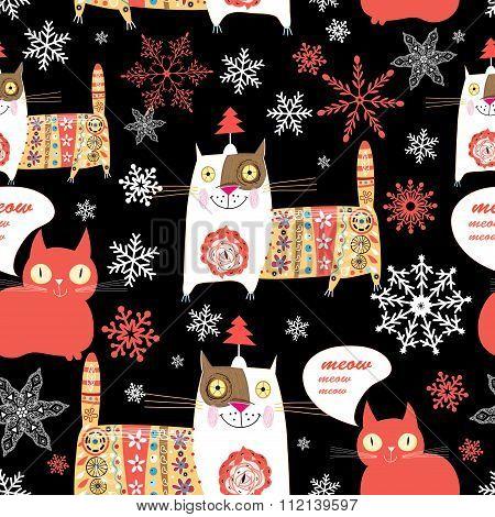 Beautiful Russian Cat Pattern