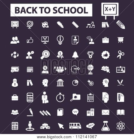 back to school, teacher, mathematics, literature, pupil, lessons  icons, signs vector concept set for infographics, mobile, website, application