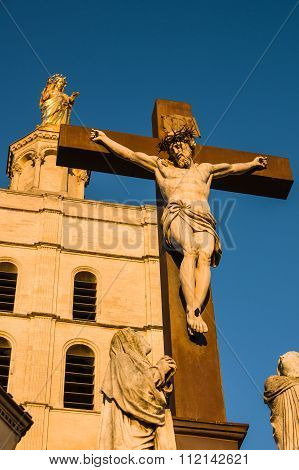 Statue Of Jesus Christ. Avignon, France