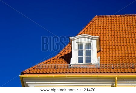 Tiled Roof And One Window
