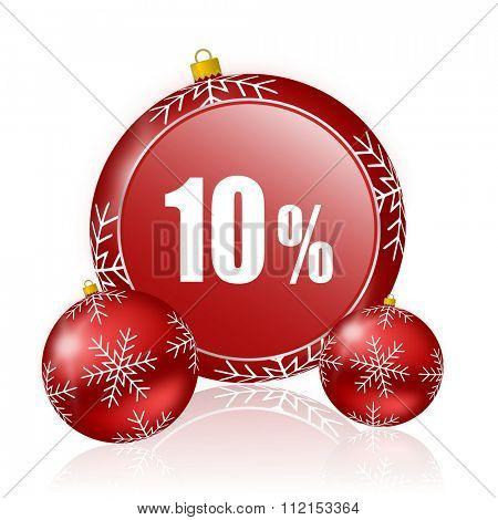 10 percent christmas icon