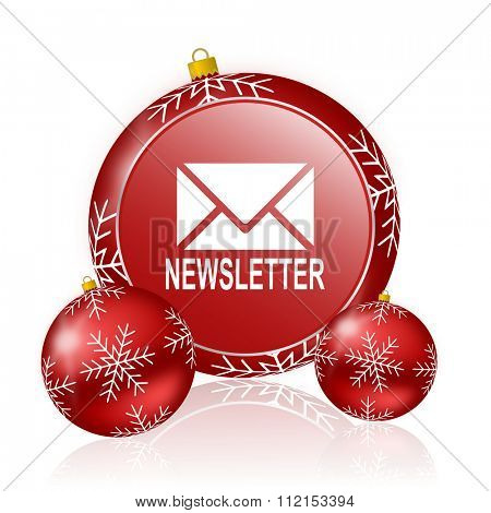 newsletter christmas icon