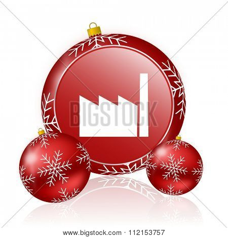 factory christmas icon