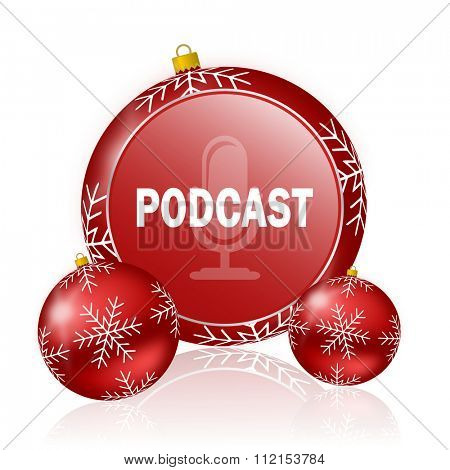 podcast christmas icon