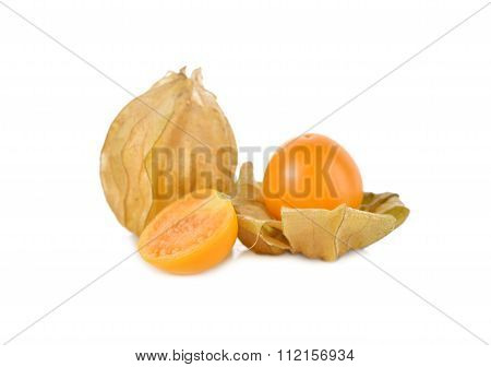 Cape Gooseberry (physalis) Fruit On White Background