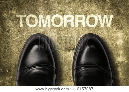 Shoes With Text Tomorrow