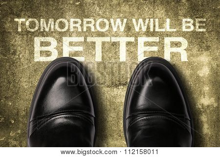 Shoes With Text Tomorrow Will Be Better