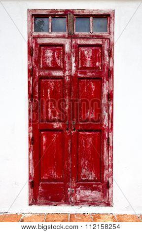 Weathered Red Doors