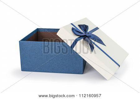 Bule Gift Box With Bule Ribbons Bow