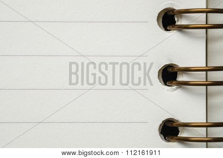 Closeup Paper Inside Of Notebook With Line Texture Background