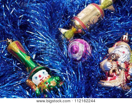 Holiday Decorations With Fur-tree And Toys