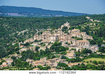 Small but beautiful old town of Simiane la Rotonde, Provence - France