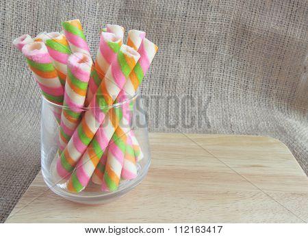 sweet wafer rolls