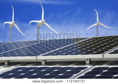 Solar Panel And Wind Generators