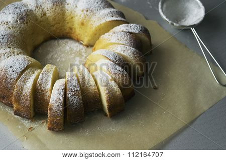 Sponge cake semolina with cottage cheese