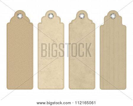 Vector Blank Vintage Cardboard Tags