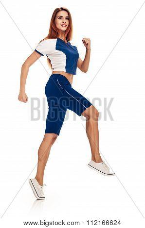 Runner smiling woman