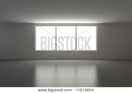 Empty Interior, Three Windows