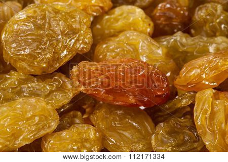 Background Of Sultana Raisins, Close Up